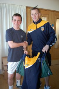 Dual player and Antrim Football Captain Paddy Cunningham wishes James all the best